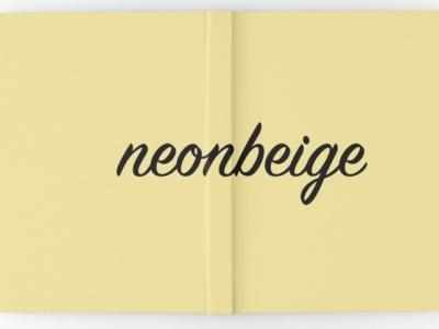 Notizbuch neonbeige bei Redbubble